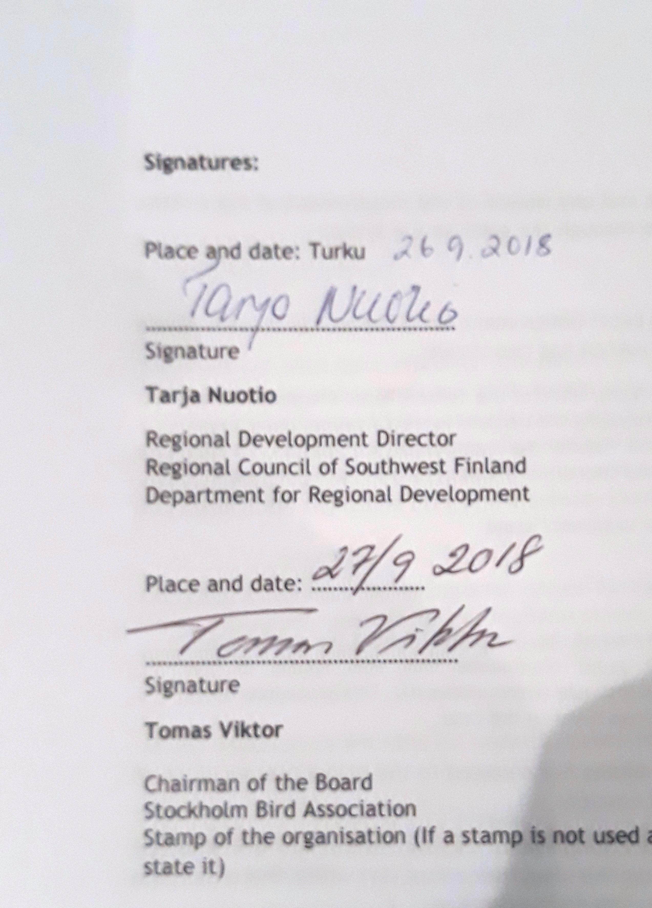 Signerat projekt-kontrakt